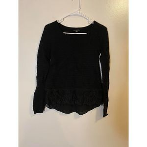 Lucky brand layered black sweater